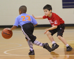 Youth Basketball Action
