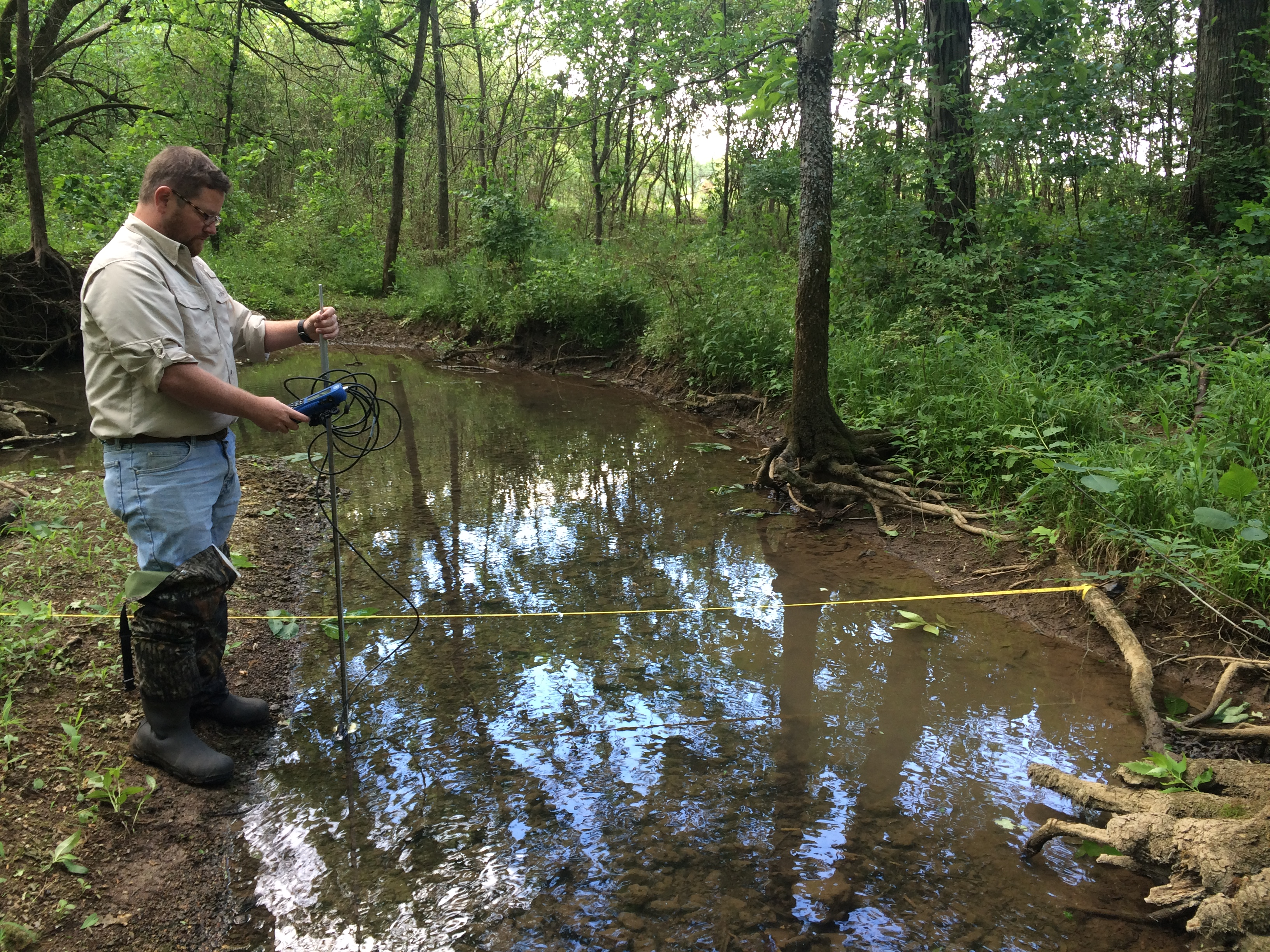 Flow measurement in Puckett Creek